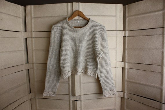 short cropped sweater
