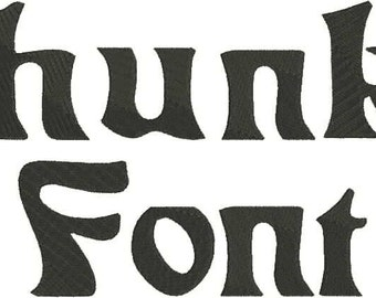 Chunky Machine Embroidery Font Monogram Alphabet