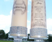 Memorial Candle.............  2  sets............ For the Bride and Groom Family