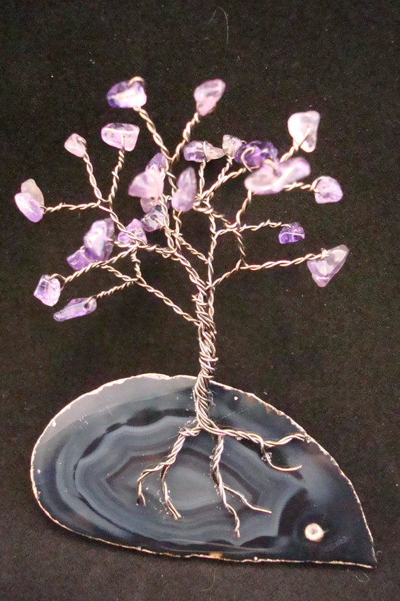 Magnet- Amethyst, Purple Gemstone Tree, Wire Wrapped Tree