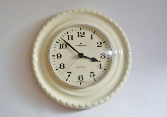 Vintage Ceramic Wall Clock from Junghans