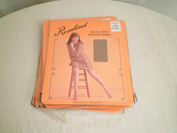 RESERVED 1960s Vintage Mesh Stockings in Original Package