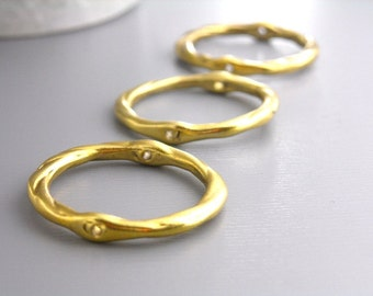 LINK-GOLD-21MM - 10 pcs of 21mm Antique Gold Plated Links