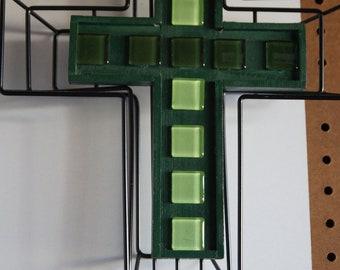 2-D Wire Framed Wooden Crosses