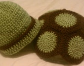 Crochet Baby Turtle Photography Set, Ready to ship