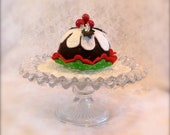 Felt Christmas Pudding Cupcake