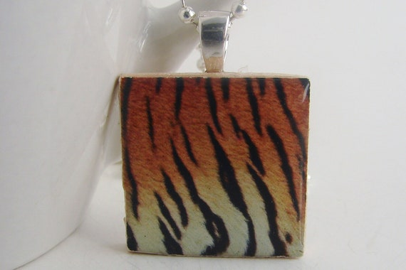 Tiger Stripes Pendant with Free Necklace