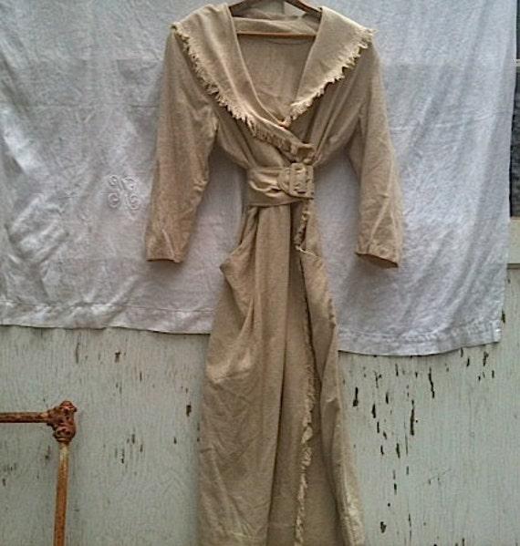 boho raw silk Romantic vintage handmade ecru off white dress wedding bride fringe cowgirl western gypsy ooak