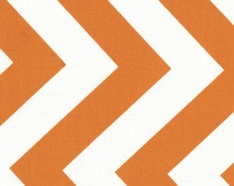 SALE - Half Moon Modern by Moda - Chevron in Tangerine - Cut Options Available
