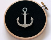 The Anchor - Reclaimed Stainless Steel and Cotton Brooch