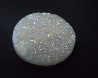 Agate Druzy Rainbow Multi Firing AAA Quality Size 30x30MM Round Gorgeous Very Sparkle Coated Wholesale