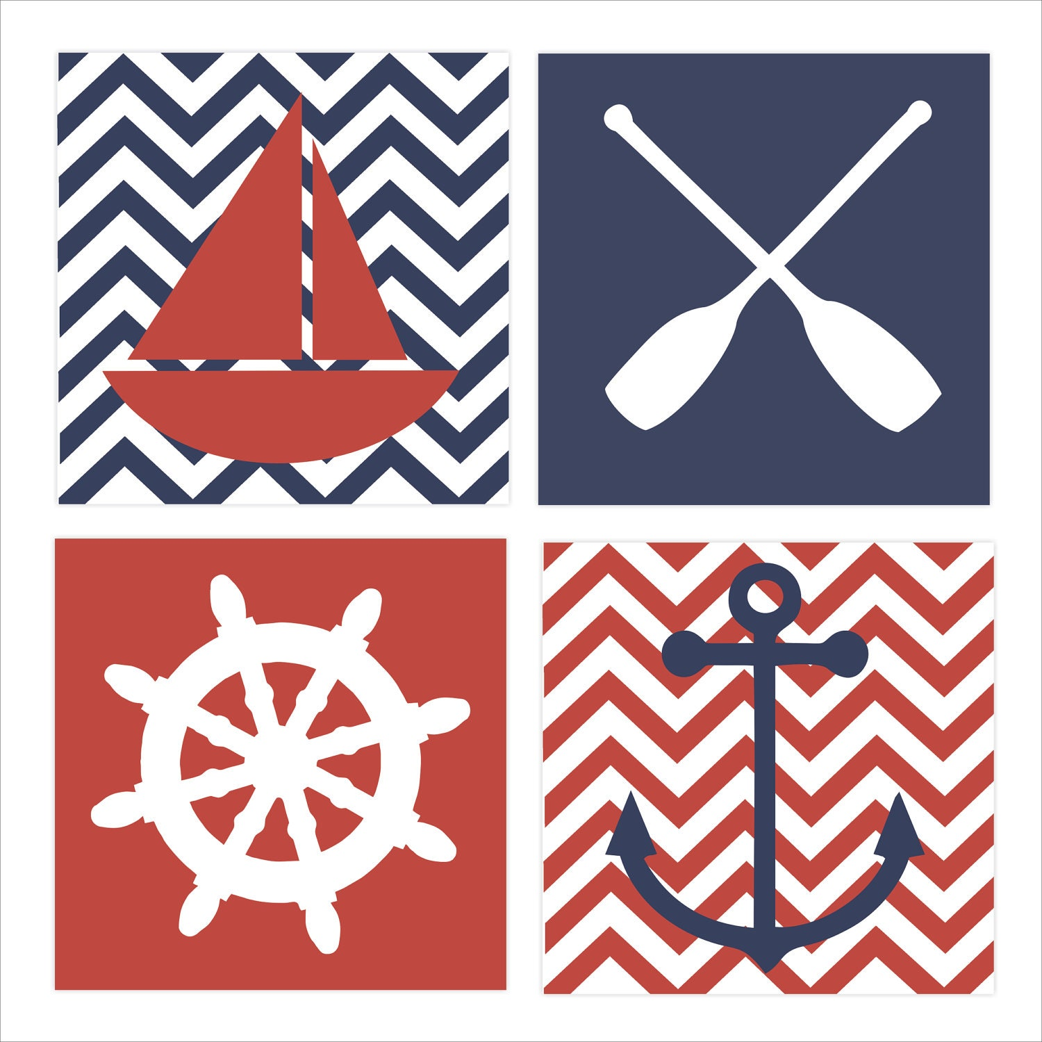Https Www Etsy Com Listing 105029463 Nautical Theme Regatta Childrens Wall