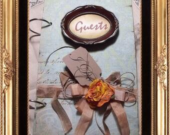 Custom Wedding Guest Book / Vintage Design / Made to order