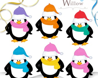 INSTANT DOWNLOAD - PENGUINS - Clip art for commercial and personal use