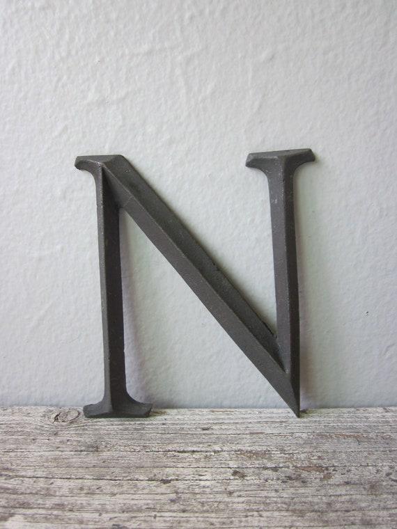 Antique Letter N
