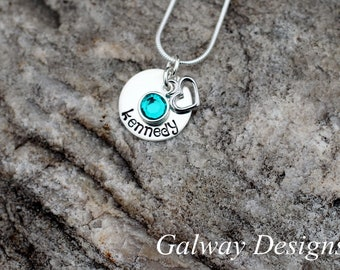 Hand Stamped Custom Dainty Necklace