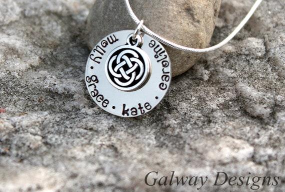 Irish Hand Stamped Mommy Necklace