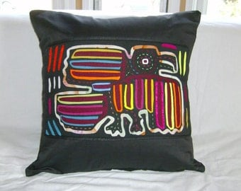 18 x 18 Black embellished pillow cover 219