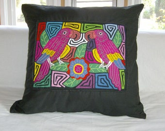 23 x 23 Black embellished pillow cover 209