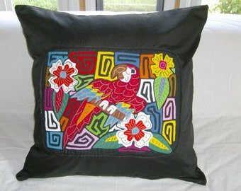 23 x 23 Black embellished pillow cover 210