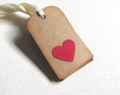 10 Mini Gift Tags, Price Tags, Party Favor Tags, Heart Tags, Embellishments