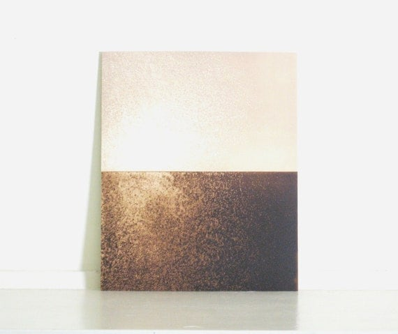 Etching Print / Minimalist Home Decor: Chiral (in Tan and Brown)