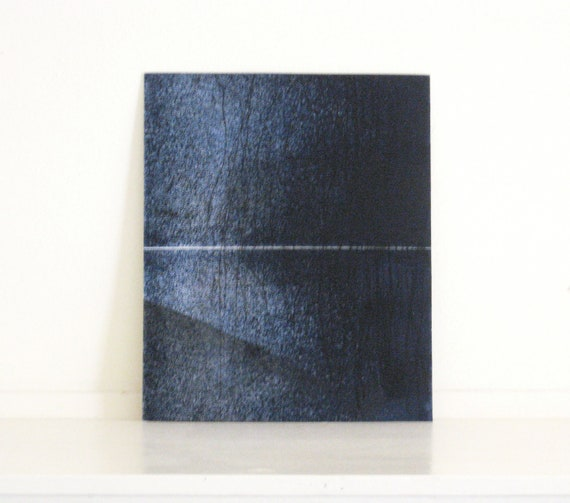 Etching Art Print/ Minimalist Home Decor: Chiral 20 (in Navy Blues)