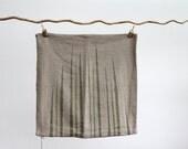 """beige hemp pillow cover handprinted with bamboo grass 20 x 20"""""""