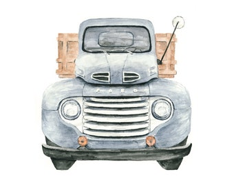 ford truck watercolor giclee print // 1948 Ford Pickup Illustration // art // wall decor