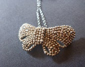 Antique French Victorian bow necklace - Charity AMERICAN CANCER SOCIETY