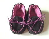 Black and Purple Moccasins for American Girl Dolls