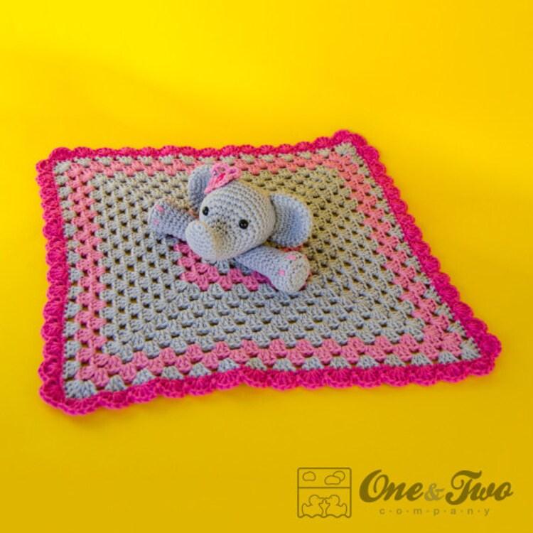 Elephant Lovey / Security Blanket PDF Crochet by ...