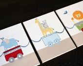 Circus Buddies, 11x14(set of 3), MADE TO ORDER