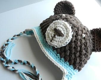 Bear Hat- Sized 1-3T