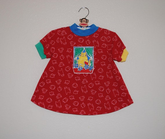 VTG Primary Colors girls Buster Brown Cat top