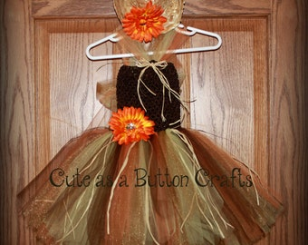 Scarecrow Tutu Costume - Infant Halloween Costume - Toddler Halloween Costume 6 months 9 months 12 months 18 months 24 month 2T 3T