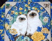 Kittens In The Garden Lap Quilt Crystal Accents