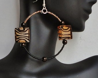 The Lenae - Leopard Print Hoop Earrings