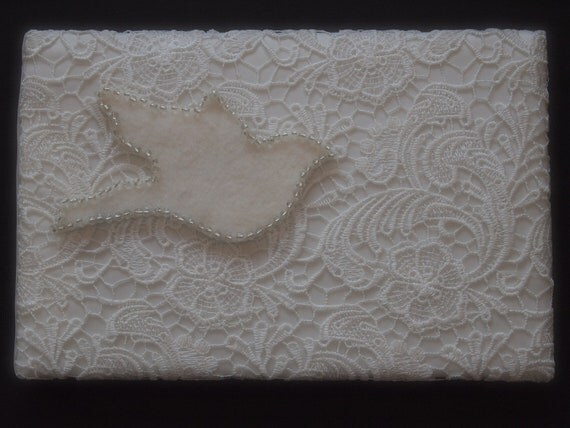 Guest Book Lace White Ivory