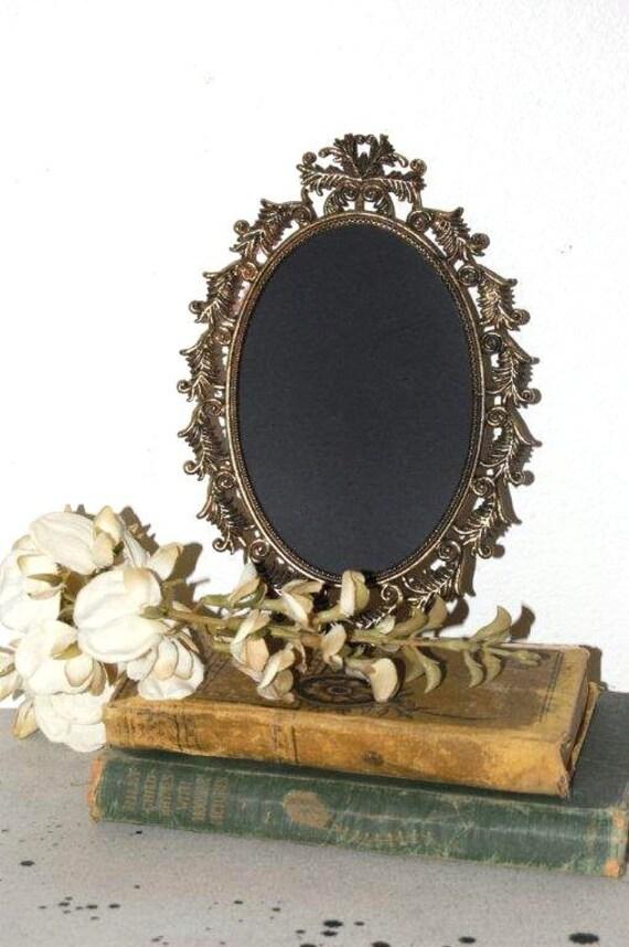 Vintage CHALKBOARD Frame - Oval -VinTage -  WeDding Sign - Destination Wedding - ORNATE Scrollwork