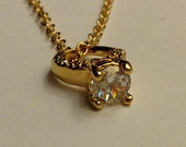 SALE--engagement ring necklace