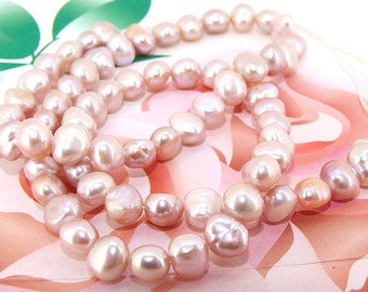 Loose beads gemstones 6mm Luster Lavender Pearl freshwater cultured  Pearl beads full one strand