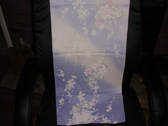 RESERVED Gypsy Princess not available   SALE Furisode  Quality vintage Japanese Kimono silk  FLORAL Peonies  14.5 x 70 inches