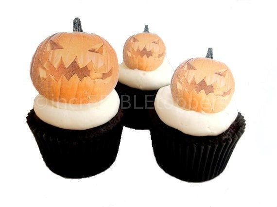 Edible Cake Decorations Halloween : Halloween Decorations for Cakes and Cupcakes - Edible Jack ...