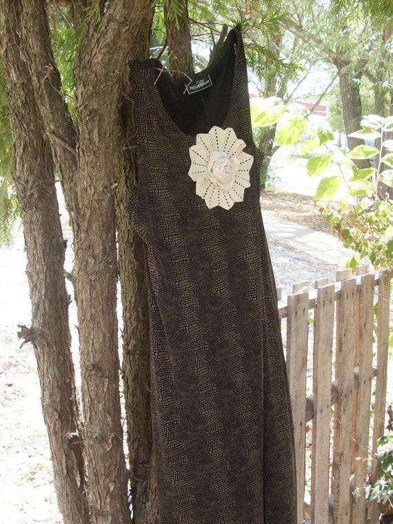 Boho Maxi dress Shabby chic sundress, hippie beach cottage, country girl