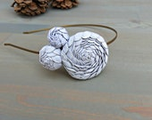 Grey Rosette Headband  for Women