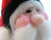 Santa Ornament - Christmas Ornament - Needle Felted Santa