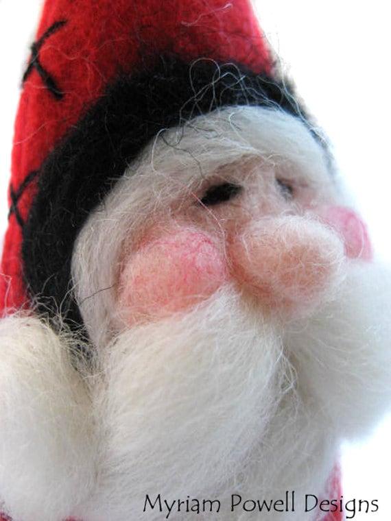 Santa Ornament - Christmas Ornament - Needle Felted Santa