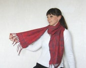"Unisex felted scarf  ""Chameleon"" . Warm. Eco friendly."