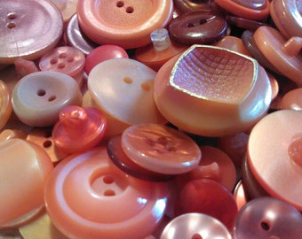 Shades of Orange - Vintage Buttons